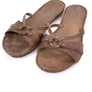 Frye Shoes - Artisanal Frye Leather Ring Sandals